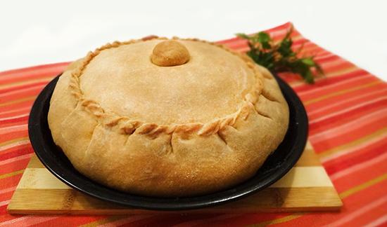Зур Бэлеш с мясом и картофелем (Tatar Big Pie – Зур-Белеш)