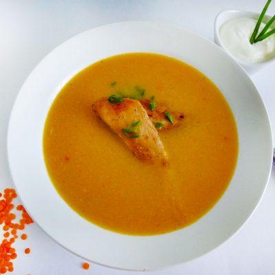 суп пюре из чечевицы с курицей