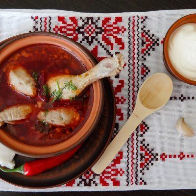 Полтавский борщ с гречневыми галушками (Poltava Borsch with Buckwheat Dumplings)