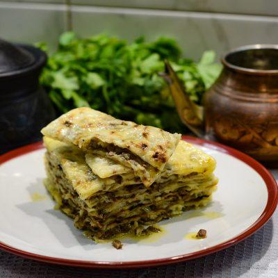 Чеченский Далнаш – лепешки с требухой (Chechen tripe cake)
