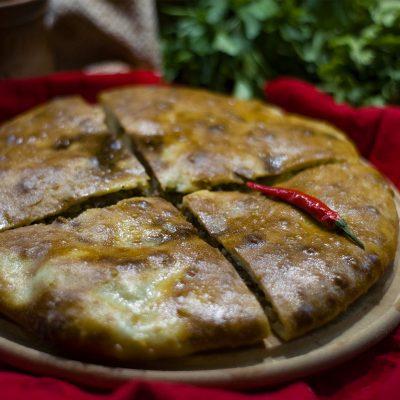 Кубдари (Georgian Meat Pie Kubdari)