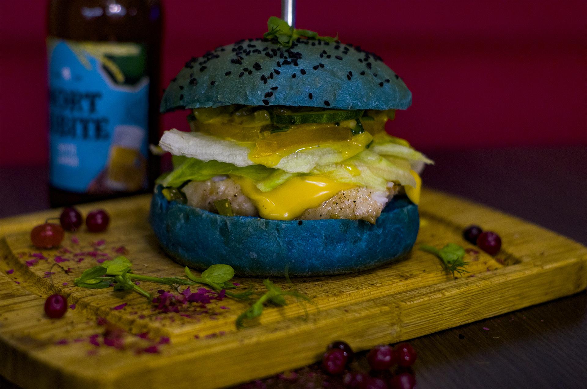 синий бургер