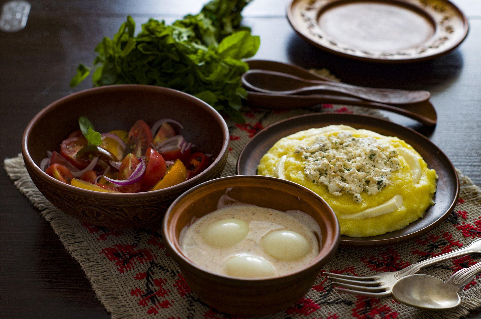 грузинский мегрельский завтрак