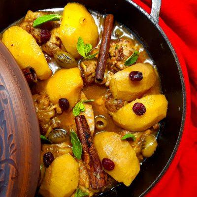 Тажин с курицей и айвой (Tagine with Chicken and Quince)